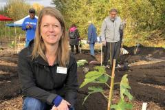 Angela at tree planting