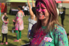 Angela at Holi Festival of Color.